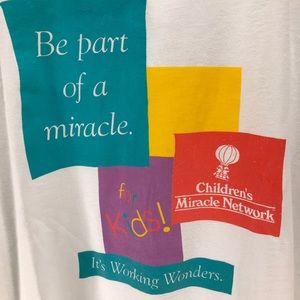 Vintage Shirts - Vintage Single Stitch Children's Miracle Network